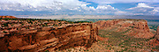 Panoramic view from Colorado National Monument, with the Book Cliffs in the background, near Grand Junction, Colorado, USA; August 2010