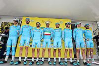 Equipe Astana - 29.04.2015 - Etape 2 - Tour de Romandie - Apples / Saint Imier<br /> Photo : Sirotti / Icon Sport<br />  *** Local Caption ***