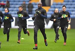 Birmingham players warm up