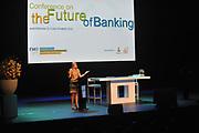 AMSTERDAM - Prinses Maxima houdt een toespraak tijdens de conferentie 'The Future of Banking' van de Nederlandse Financierings-Maatschappij voor Ontwikkelingslanden. De prinses spreekt in haar functie als speciale pleitbezorger van de secretaris-generaal van de Verenigde Naties. ANP ROYAL IMAGES COPYRIGHT HENDRIK JAN VAN BEEK