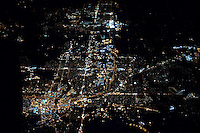 Night View of America from 30,000 feet. Image taken while flying on a commercial flight from San Francisco, California to Newark, New Jersey. Image taken with a Nikon D3x and 50 mm f/1.4G lens (ISO 1600, 50 mm, f/1.4, 1/60 sec).