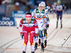 November 24, 2018 - Ruka, FINLAND - 181124 Maja Dahlqvist of Sweden crosses the finish line when competing in the women's sprint classic technique final during the FIS Cross-Country World Cup premiere on November 24, 2018 in Ruka  (Credit Image: © Carl Sandin/Bildbyran via ZUMA Press)