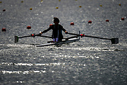 Eton Dorney, Windsor, Great Britain,<br /> <br /> 2012 London Olympic Regatta, Dorney Lake. Eton Rowing Centre, Berkshire[ Rowing].<br /> <br /> Description;  M1X start of a race.  [Mirrow] 10:13:31  Sunday  29/07/2012<br /> [Mandatory Credit: Peter Spurrier/Intersport Images]