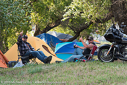 Jason Adams and Craig Needham at the Buffalo Chip Campground during the annual Sturgis Black Hills Motorcycle Rally.  SD, USA.  August 6, 2016.  Photography ©2016 Michael Lichter.