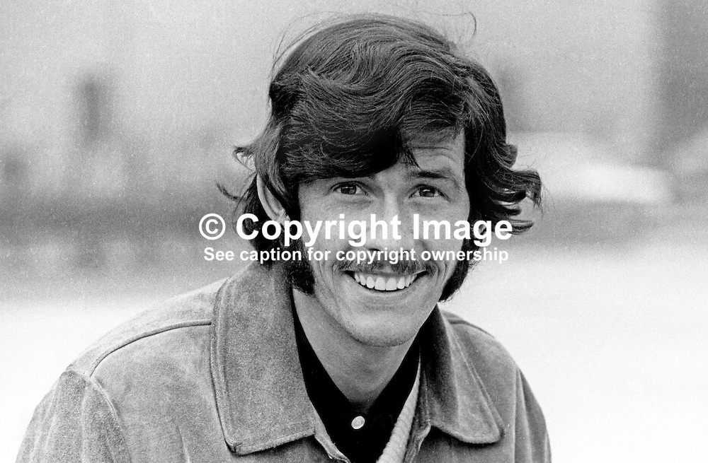 Billy Millen, footballer, Linfield FC, Belfast, N Ireland, September, 1969, 196909000254<br /> <br /> Copyright Image from Victor Patterson, Belfast, UK<br /> <br /> t: +44 28 9066 1296 (from Rep of Ireland 048 9066 1296)<br /> m: +44 7802 353836<br /> e: victorpattersonbelfast@gmail.com<br /> <br /> www.images4media.com<br /> <br /> Please see my full Terms and Conditions of Use at https://www.images4media.com/p/terms-conditions - it is IMPORTANT that you familiarise yourself with them.<br /> <br /> Images used online incur an additional cost. This cost should be agreed in writing in advance. Online images must be visibly watermarked i.e. © Victor Patterson or that of the named photographer within the body of the image. The original metadata must not be deleted from images used online.<br /> <br /> This image is only available for the use of the download recipient i.e. television station, newspaper, magazine, book publisher, etc, and must not be passed on to a third party. It is also downloaded on condition that each and every usage is notified within 7 days to victorpattersonbelfast@gmail.com.<br /> <br /> The right of Victor Patterson (or the named photographer) to be identified as the author is asserted in accordance with The Copyright Designs And Patents Act (1988). All moral rights are asserted.