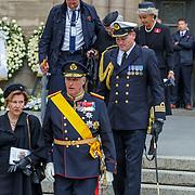 LUX/Luxemburg/20190504 -  Funeral<br /> of HRH Grand Duke Jean, Uitvaart Groothertog Jean, koning Harald en partner koningin Sonja van Noorwegen
