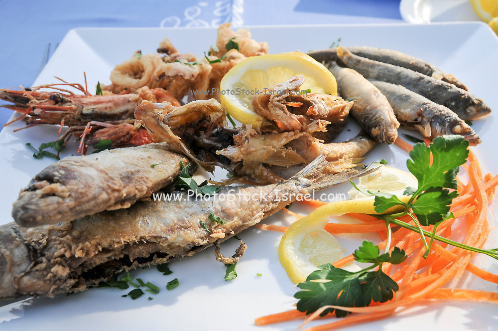 Seafood platter Photographed in Paphos, Cyprus