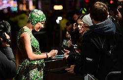 Amber Heard meets fans during the Aquaman premiere held at Cineworld in Leicester Square, London.