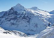 Postkarte A6: Grindelwald First, Wetterhorn und Bärglistock (1999)