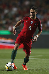 October 10, 2017 - Lisbon, Portugal - Portugal's midfielder Joao Moutinho in action during the FIFA World Cup WC 2018 football qualifier match between Portugal and Switzerland, in Lisbon, on October 10, 2017. (Credit Image: © Carlos Palma/NurPhoto via ZUMA Press)