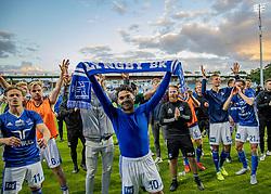 Rezan Corlu (Lyngby Boldklub) jubler efter kampen i 3F Superligaen mellem Lyngby Boldklub og Hobro IK den 20. juli 2020 på Lyngby Stadion (Foto: Claus Birch).