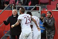 0:1 Jubel v.l.  Trainer Carlo Ancelotti (Bayern)<br /> Ingolstadt, 11.02.2017, Fussball Bundesliga, FC Ingolstadt 04 - FC Bayern München 0:2ga, Bayer 04 Leverkusen - Eintracht Frankfurt 3:0<br /> <br /> Norway only