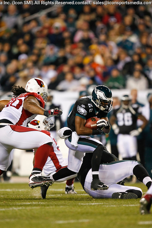 27 Nov 2008: Philadelphia Eagles running back Lorenzo Booker #25 runs the ball during the game against the Arizona Cardinals on November 27th, 2008. The Eagles won 48 to 20 at Lincoln Financial Field in Philadelphia, Pennsylvania.
