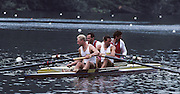 Lucerne, SWITZERLAND,  foreground AUT M2-, Hermann BAUER , Karl SINZINGER Jr background RUS M2- Yuri and Nikolai PIMENOV. 1992 FISA World Cup Regatta, Lucerne. Lake Rotsee.  [Mandatory Credit: Peter Spurrier: Intersport Images] 1992 Lucerne International Regatta and World Cup, Switzerland