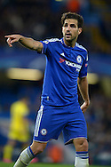 Cesc Fabregas of Chelsea in action. UEFA Champions League group G match, Chelsea v Maccabi Tel Aviv at Stamford Bridge in London on Wednesday 16th September 2015.<br /> pic by John Patrick Fletcher, Andrew Orchard sports photography.