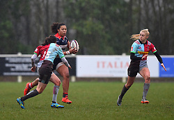 Row Marston of Bristol Ladies with the ball - Mandatory by-line: Paul Knight/JMP - 03/02/2018 - RUGBY - Cleve RFC - Bristol, England - Bristol Ladies v Harlequins Ladies - Tyrrells Premier 15s