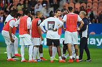 "Groupe Metz avec le tee shirt  ""Ensemble sauvons  Serge ATLAOUI"" - 28.04.2015 - Paris Saint Germain / Metz - Match en retard - 32eme journee Ligue 1<br />Photo : Nolwenn Le Gouic / Icon Sport"