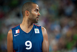 Tony Parker of France during friendly match between National teams of Slovenia and France for Eurobasket 2013 on August 31, 2013 in Arena Stozice, Ljubljana, Slovenia. (Photo by Matic Klansek Velej / Sportida.com)