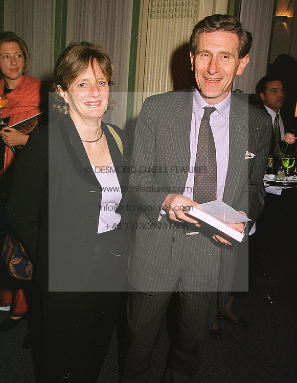 MR & MRS DENNIS STEVENSON former chairman of the Trustees at The Tate gallery, at a party in London on 5th May 1999.MRT 22