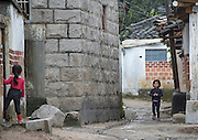 """NORTH KOREA:<br /> The pictures Kim Jong Un doesn't want you to see<br /> <br /> Since 2008, Eric Lafforgue ventured to North Korea six times. Thanks to digital memory cards, I was able to save photos that I was forbidden to take or was told to delete by the minders.<br /> <br /> Photo Shows:  When you sleep in Kaesong, near the DMZ, you are locked in an hotel complex composed of old houses. It allows the guides to say """"Why do you want to go outside? It's the same as in the hotel."""" No, it's not.<br /> ©Eric Lafforgue/Exclusivepix Media"""