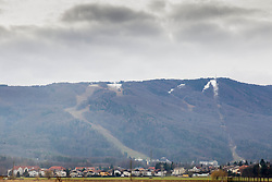 Ski slope for FIS Alpine Ski World Cup race 50th Anniversary Golden Fox Trophy still without snow due to too warm weather on January 04, 2014 in Pohorje, Maribor, Slovenia. Photo by Vid Ponikvar / Sportida