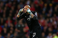 Darren Randolph , the Republic of Ireland goalkeeper looks on. Wales v Rep of Ireland , FIFA World Cup qualifier , European group D match at the Cardiff city Stadium in Cardiff , South Wales on Monday 9th October 2017. pic by Andrew Orchard, Andrew Orchard sports photography