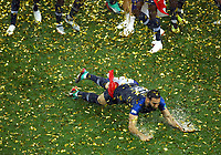 Adil Rami (France) celebration on the pitch full of rain<br /> Celebration Victory France <br /> Moscow 15-07-2018 Football FIFA World Cup Russia  2018 Final / Finale <br /> France - Croatia / Francia - Croazia <br /> Foto Matteo Ciambelli/Insidefoto