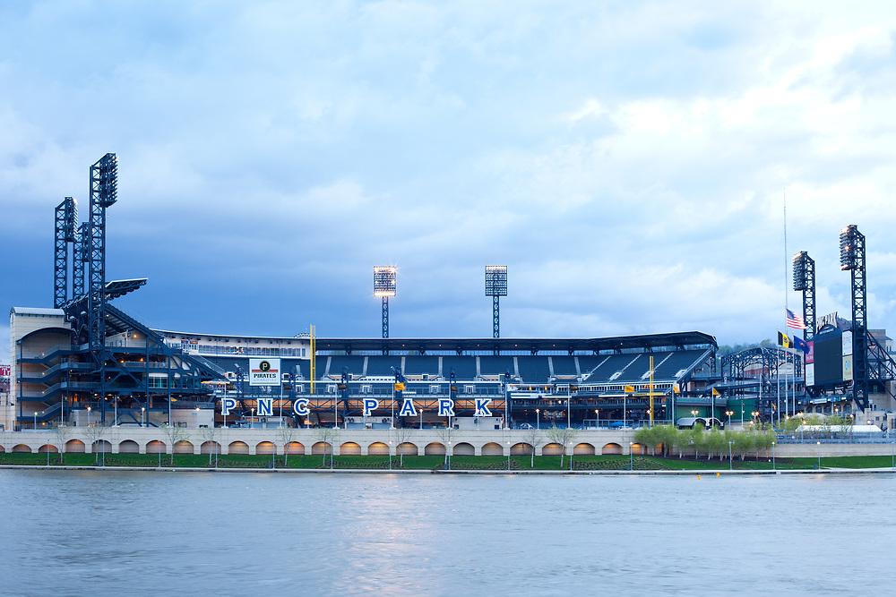 Pittsburgh, Pennsylvania, United States - PNC Park stadium at North Shore district.