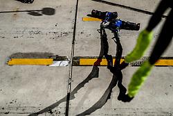 October 21, 2017 - Austin, United States of America - Motorsports: FIA Formula One World Championship 2017, Grand Prix of United States, ..Bremsspur, Bremsspuren, Strecke, Gummi, Spur, Reifenspuren, Reifenspur, Streifen, Asphalt, Abrieb, Gummi  (Credit Image: © Hoch Zwei via ZUMA Wire)