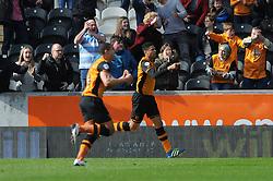 Curtis Davies of Hull City celebrates his goal - Mandatory by-line: Dougie Allward/JMP - 02/04/2016 - FOOTBALL - KC Stadium - Hull, England - Hull City v Bristol City - Sky Bet Championship