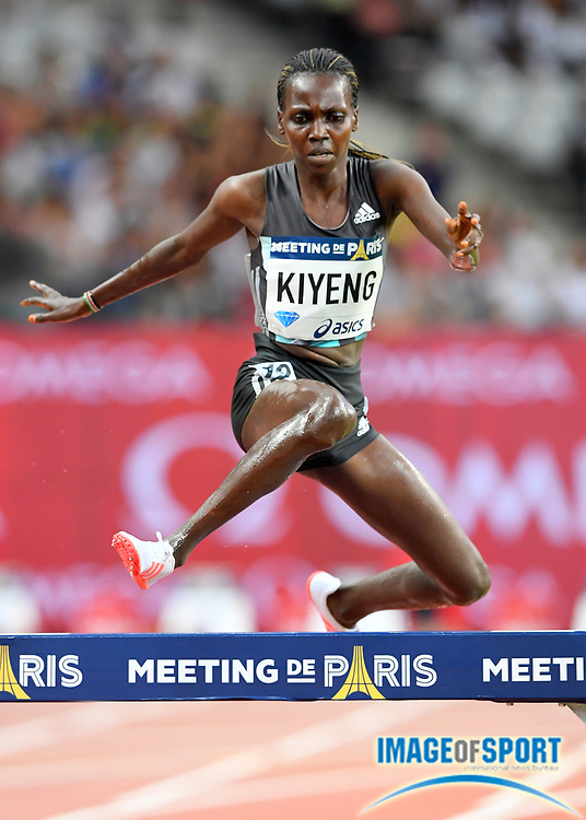 Hyvin Kiyeng Jepkemoi (KEN) places second in the women's steeplechase in 9:01.86 in the Meeting de Paris during a IAAF Diamond League track and field meet at Stade de France in Saint-Denis, France on Saturday, Aug. 28, 2016. Photo by Jiro Mochizuki