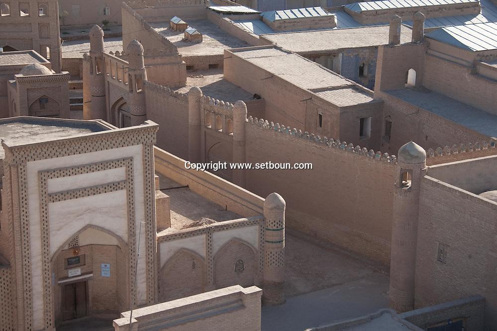 Madrassa , coranic school,  in the old city  KHIVA  Ouzbekistan  .///.merdessa , ecole coranique , dans la vielle ville  KHIVA  Ouzbekistan .///.OUZB56309