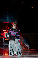 KELOWNA, BC - SEPTEMBER 21:  Cole Schwebius #31 of the Kelowna Rockets enters the ice for home opener against the Spokane Chiefs at Prospera Place on September 21, 2019 in Kelowna, Canada. (Photo by Marissa Baecker/Shoot the Breeze)