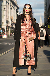 Boba K during London Fashion Week Autumn/Winter 2017 in London.  Picture date: Friday 17th February 2017. Photo credit should read: DavidJensen/EMPICS Entertainment