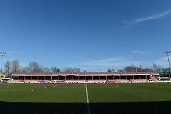A general view of the CheckaTrade Stadium - Photo mandatory by-line: Dougie Allward/JMP - Mobile: 07966 386802 - 07/03/2015 - SPORT - Football - Crawley - Broadfield Stadium - Crawley Town v Bristol City - Sky Bet League One