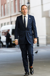 © Licensed to London News Pictures. 27/01/2019. London, UK.  Matthew Hancock, Secretary of State for Health and Social Care arrives at BBC Broadcasting House to appear on the Andrew Marr Show.  Photo credit: Vickie Flores/LNP