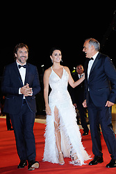 Javier Bardem, Penelope Cruz and Alberto Barbera attending the Loving Pablo Premiere during the 74th Venice International Film Festival (Mostra di Venezia) at the Lido, Venice, Italy on September 06, 2017. Photo by Aurore Marechal/ABACAPRESS.COM