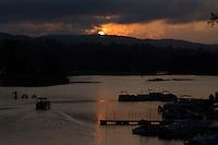 Sunset, West River, Brattleboro, Vermont