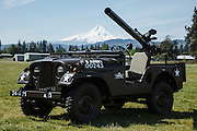 Jeep with recoilless rifle at WAAAM.
