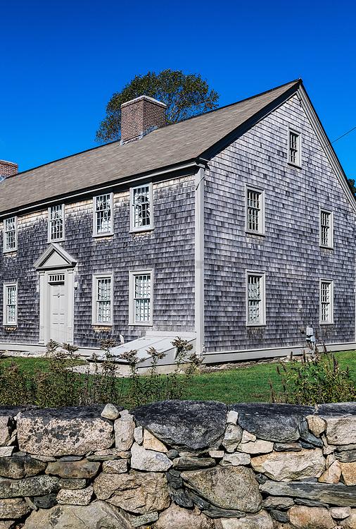 Historic Handy House, 1712, Westport, Massachusetts, USA.