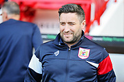 A smiling Bristol City manager Lee Johnson  before the EFL Sky Bet Championship match between Sheffield United and Bristol City at Bramall Lane, Sheffield, England on 30 March 2019.