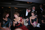 Lady Doune, Viscountess Stormonth and Iona, Duchess of Argyll. Behind: Viscount Dupplin. The  Royal Caledonian Ball in aid of The Royal Caledonian Ball Trust held at The Grosvenor House Hotel, Park Lane, London W1.  28  April 2005. ONE TIME USE ONLY - DO NOT ARCHIVE  © Copyright Photograph by Dafydd Jones 66 Stockwell Park Rd. London SW9 0DA Tel 020 7733 0108 www.dafjones.com