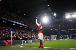 10 January 2018 -  EFL Cup - Semi Final (1st Leg) - Chelsea v Arsenal - Granit Xhaka of Arsenal signals before taking a corner - Photo: Marc Atkins/Offside
