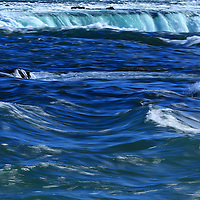 """Niagara's Deep Blues""<br /> <br /> Beautiful blue hues of the Niagara River and Falls."