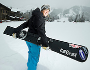 PRICE CHAMBERS / NEWS&GUIDE<br /> When she's not training, World Cup alpine snowboarder Lindsay Lloyd teaches at Jackson Hole Mountain Sports School. The 29-year-old was an alternate for Michelle Gorgone in the Vancouver Olympic Games and now travels the world on her own dime, chasing victories on her Kessler board.
