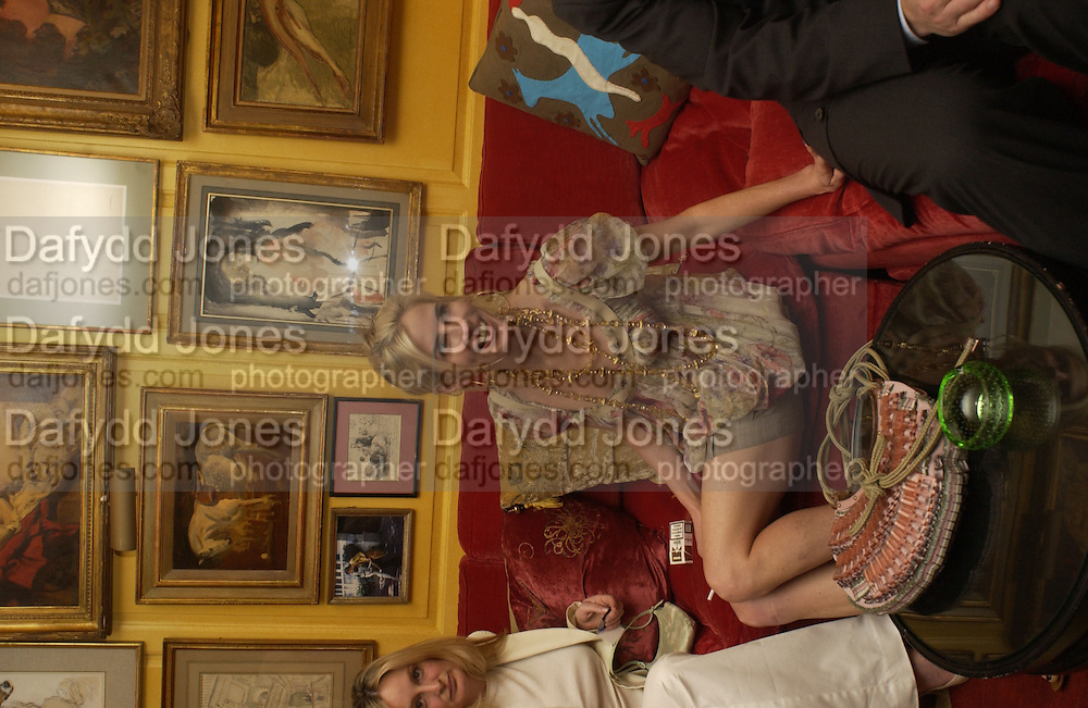 Brooke de Campo, Cartier, Alexander McQueen and Viking hold a party  for Plum Sykes's book Bergdorf Blondes, Annabel's. 4 May 2004. SUPPLIED FOR ONE-TIME USE ONLY> DO NOT ARCHIVE. © Copyright Photograph by Dafydd Jones 66 Stockwell Park Rd. London SW9 0DA Tel 020 7733 0108 www.dafjones.com
