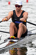Poznan, POLAND, 21st June 2019, Friday, Morning Heats, NZL M1X. Robbie MANSON, FISA World Rowing Cup II, Malta Lake Course, © Peter SPURRIER/Intersport Images,<br /> <br /> 12:20:55