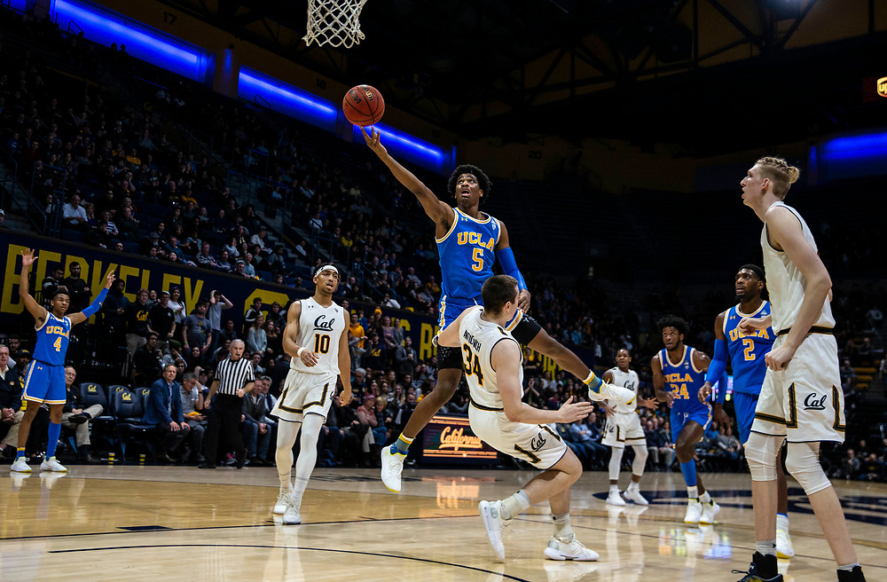 Feb 13  2019 Berkeley, CA  U.S.A.  UCLA Bruins guard Chris Smith (5) drives to the basket during the NCAA Men's Basketball game between UCLA Bruins and the California Golden Bears 75-67 overtime win at Hass Pavilion Berkeley Calif.  Thurman James / CSM