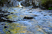 The Crystal River runs past the Crystal Mill in the Elk Mountains of Colorado.