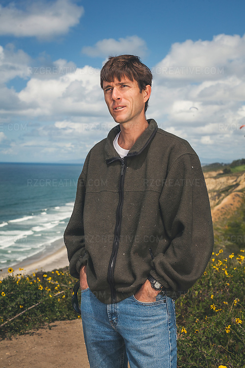 """Kayaker James """"Rocky"""" Contos photographed in La Jolla, Calif. on April 8, 2011. Image is copyrighted and may not be used without permission."""